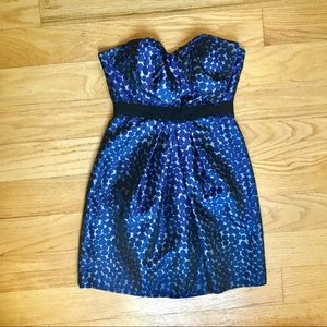 BCBG Navy strapless dress
